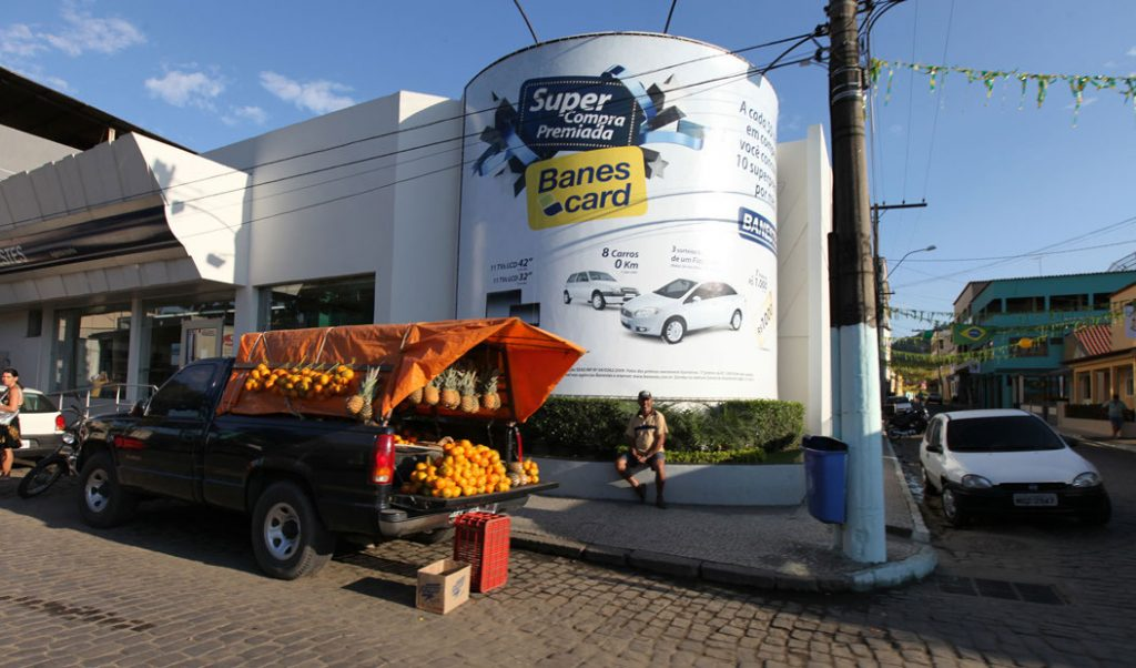 truck selling produce
