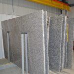 stacks of granite slabs