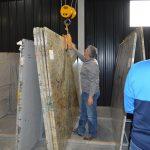 men working with granite