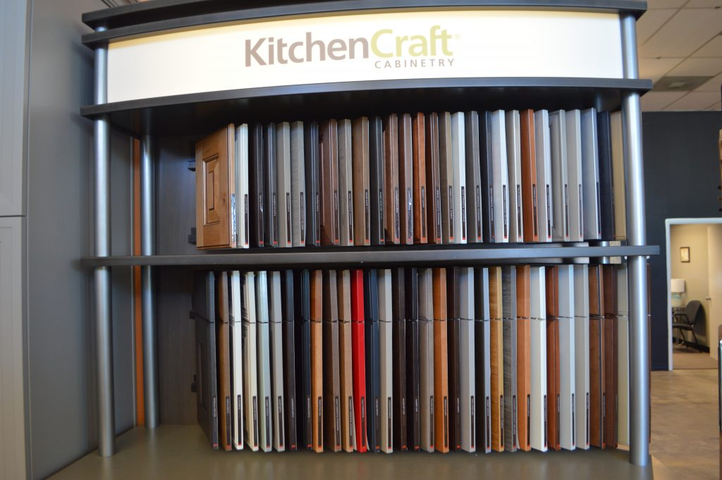 samples of KitchenCraft cabinet materials