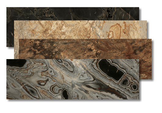 examples of granite and marble half slabs