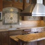 brown kitchen counters