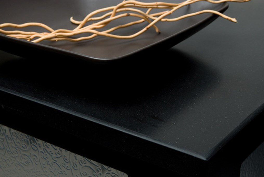 black table with wood desk decor