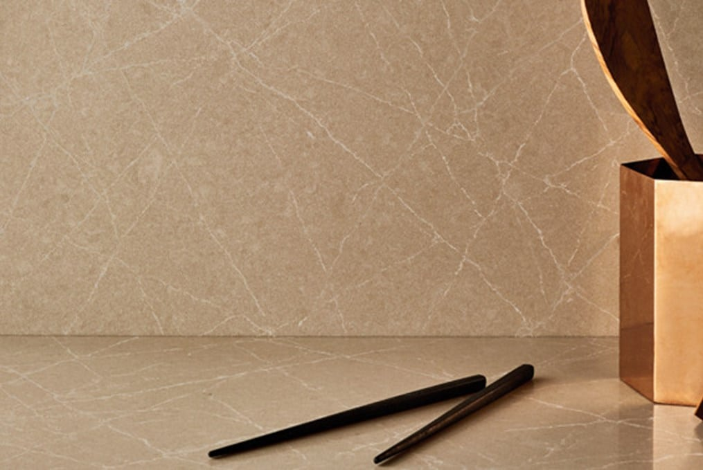 beige counter with chopsticks