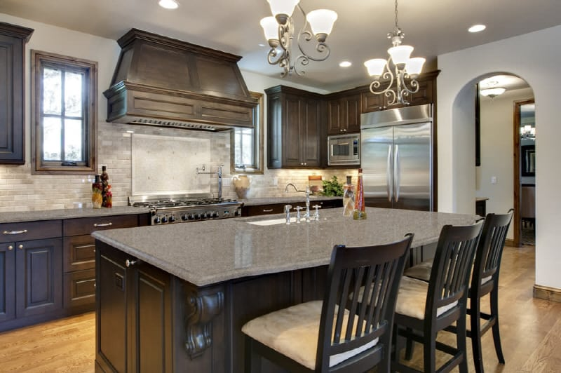 gray quartz kitchen counters