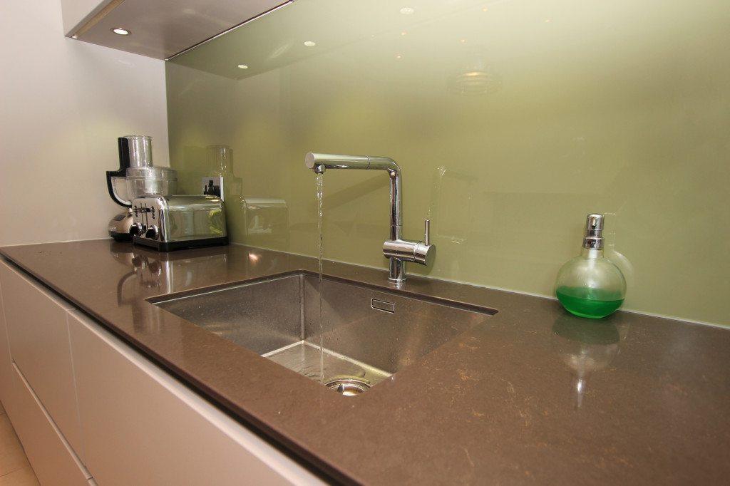 brown kitchen counter