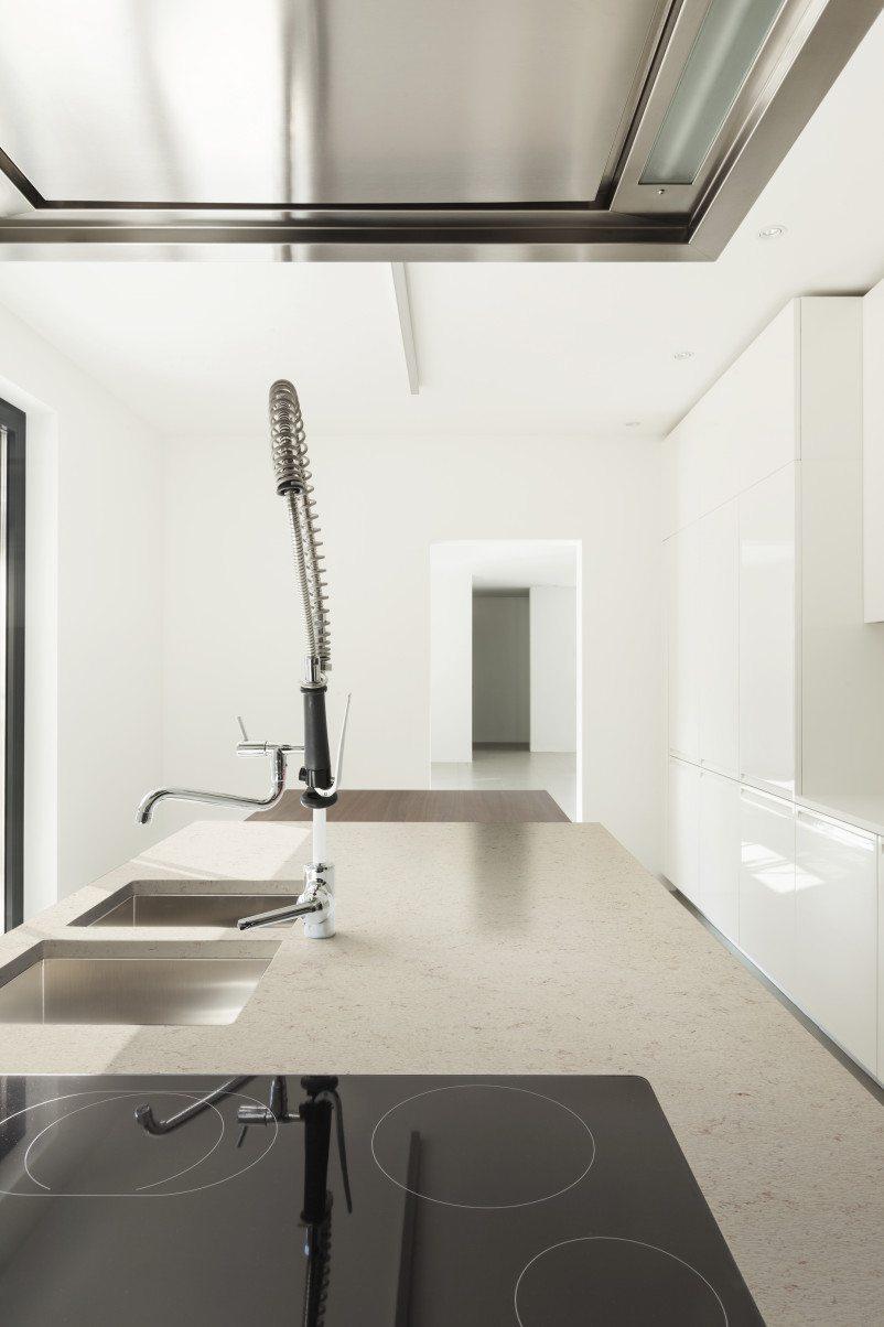 off white kitchen counter