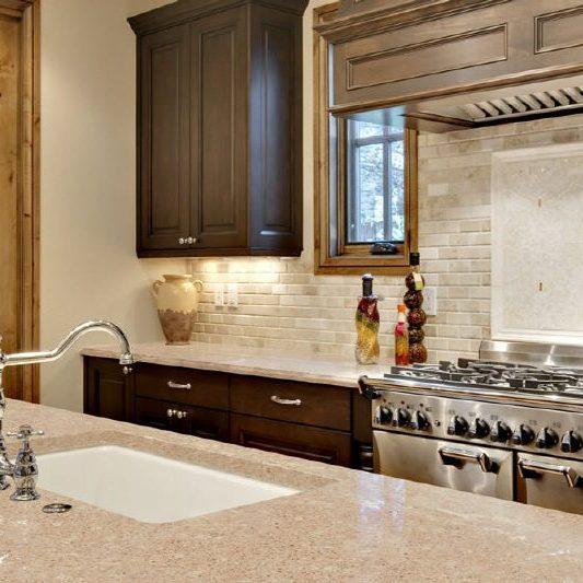 beige kitchen counter